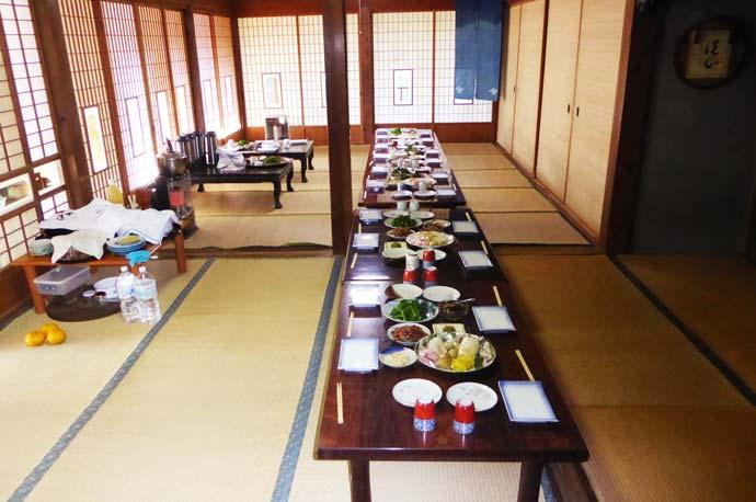 古民家での昼食
