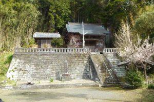 八幡神社の拝殿の画像