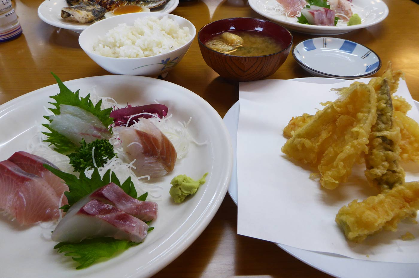 栄丸の刺身&天ぷら定食