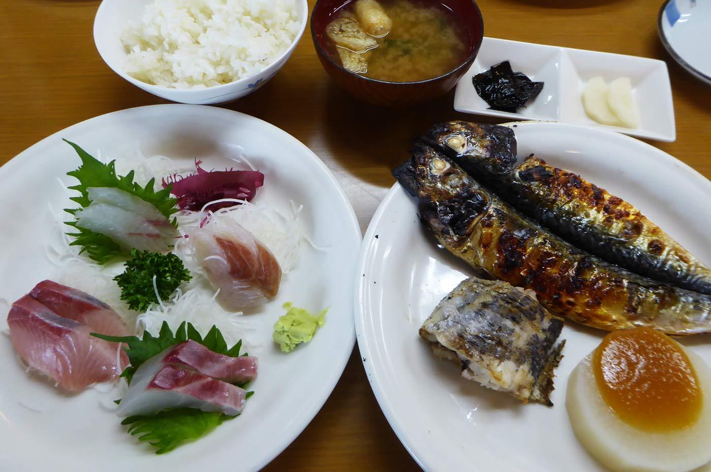 刺身&焼き魚定食