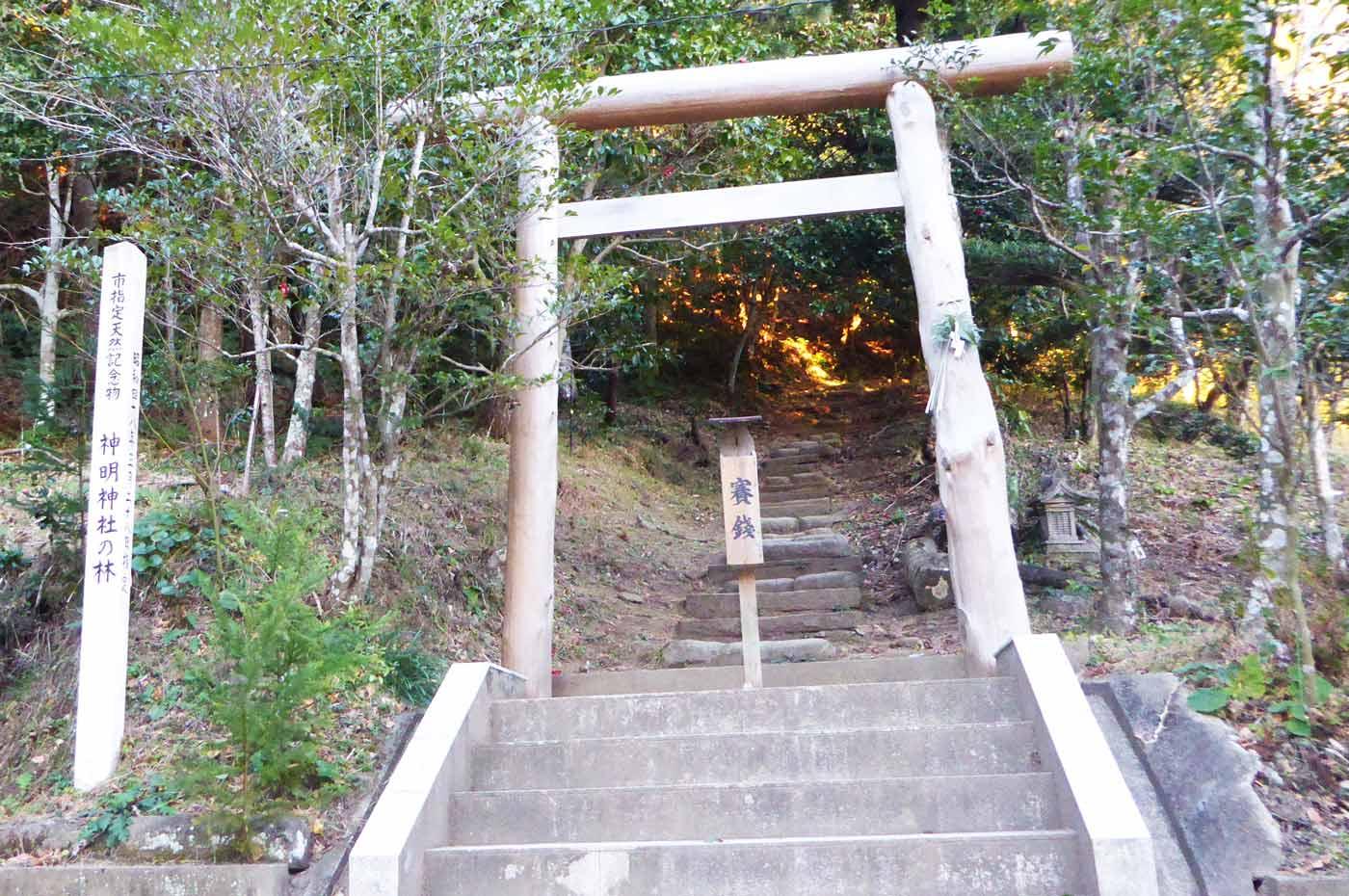 諾冉神社への階段の画像