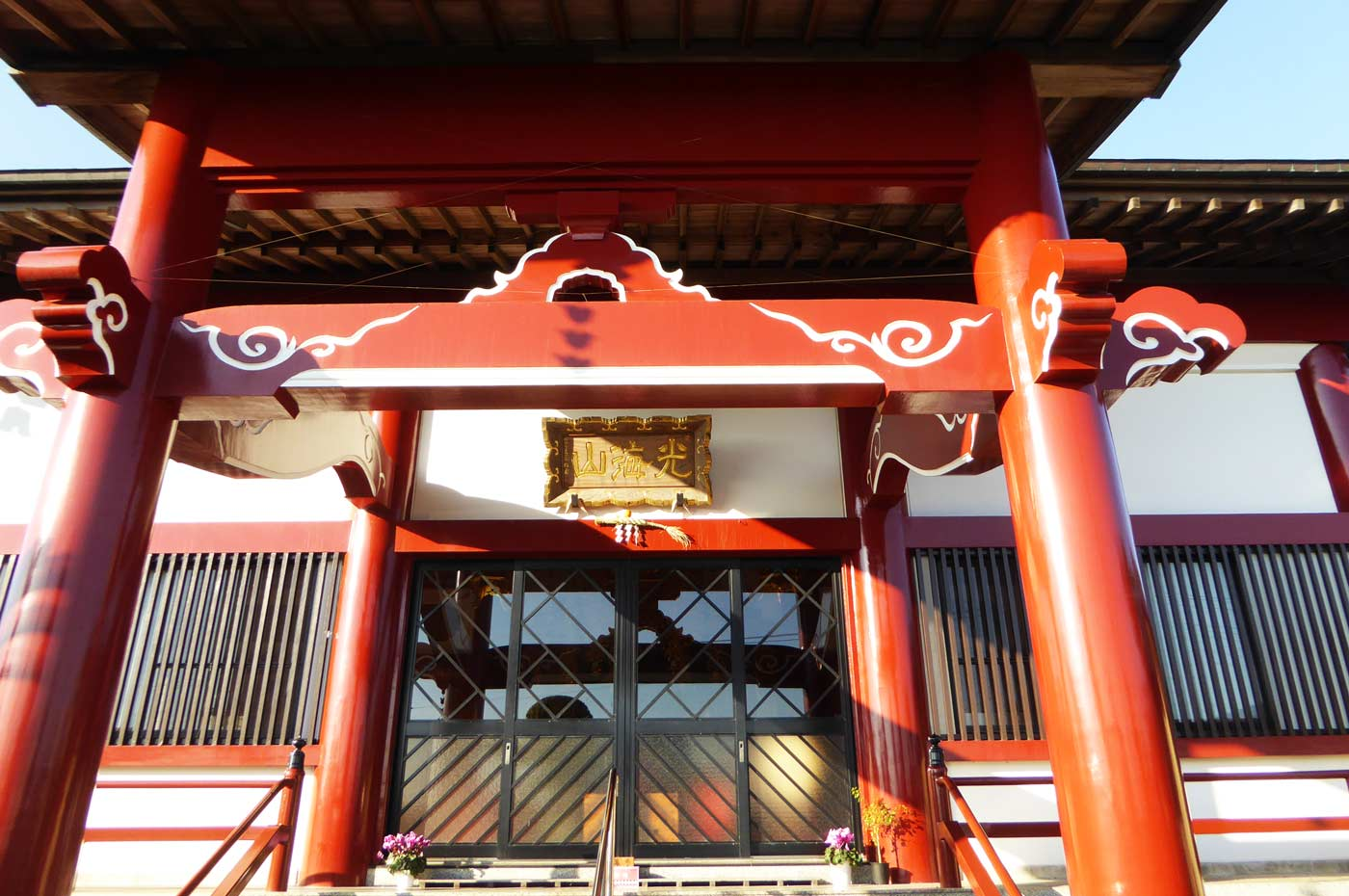 本蓮寺本堂のアップ