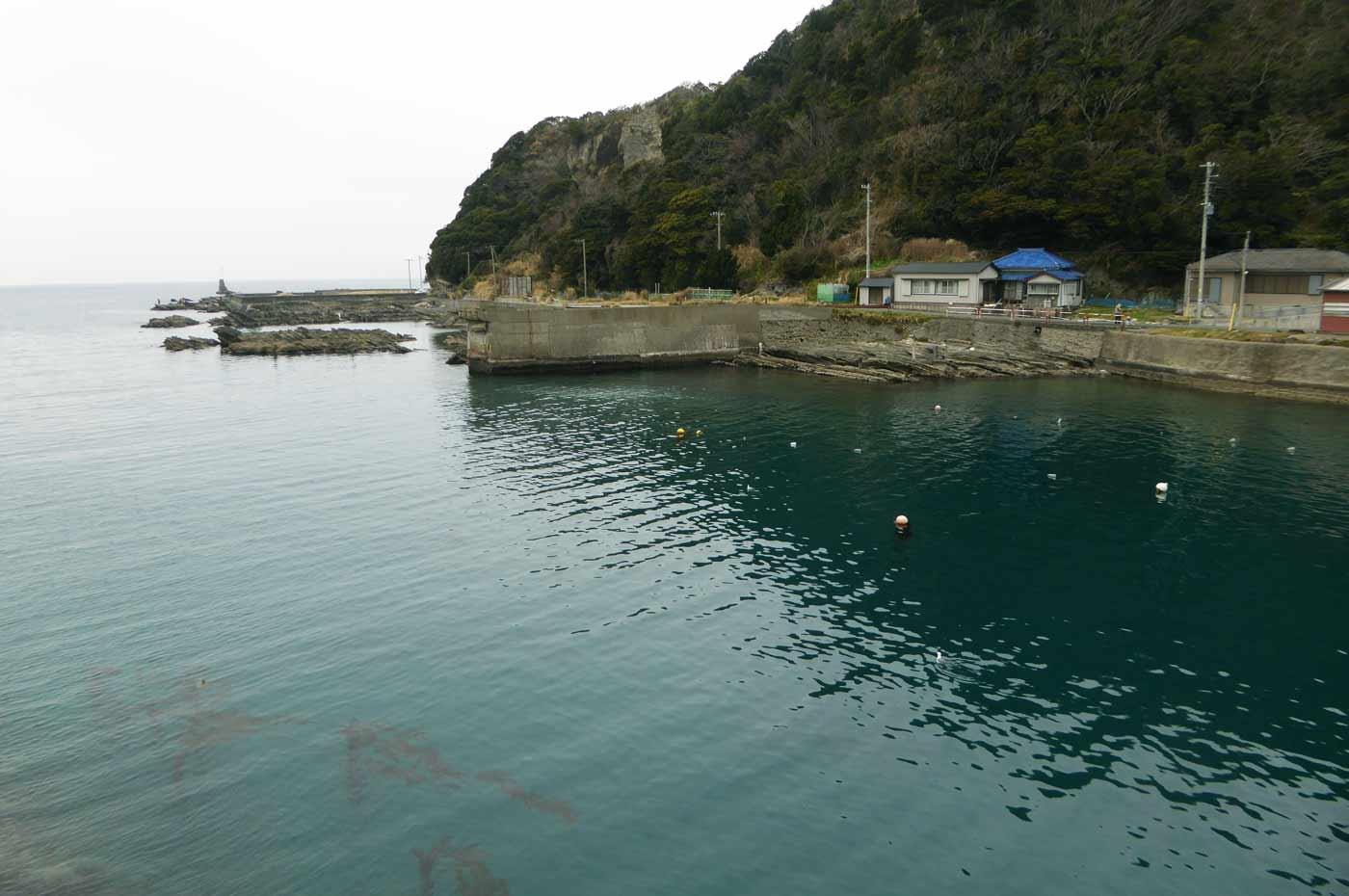 港内右側の小突堤のポイント