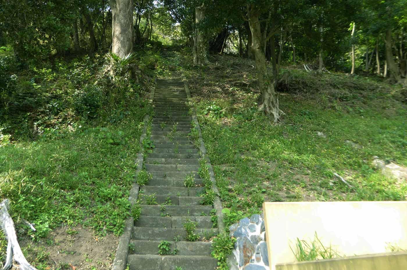 本堂裏の階段