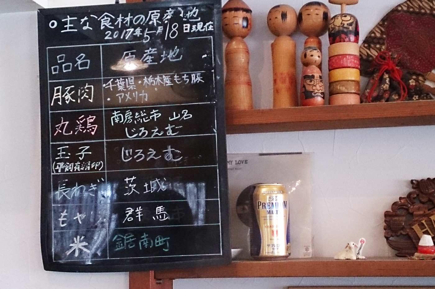 食材の産地の掲示板