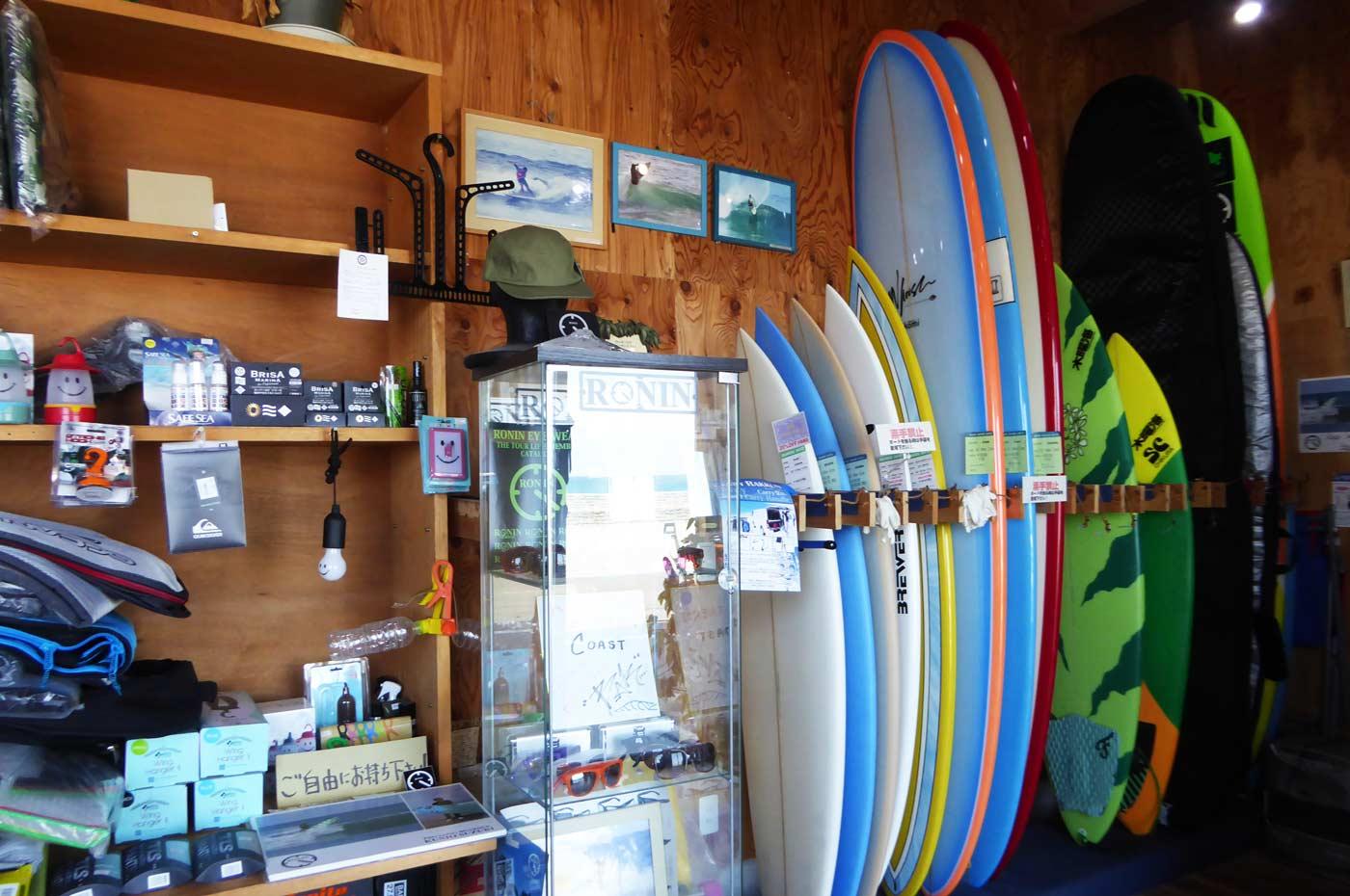 サーフボード販売コーナー