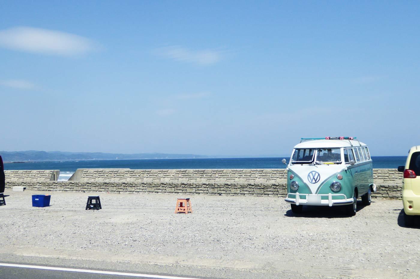 窓から見た千倉海岸