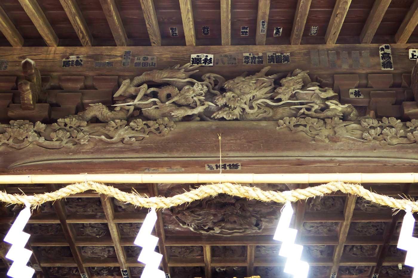 後藤義光の龍の彫刻