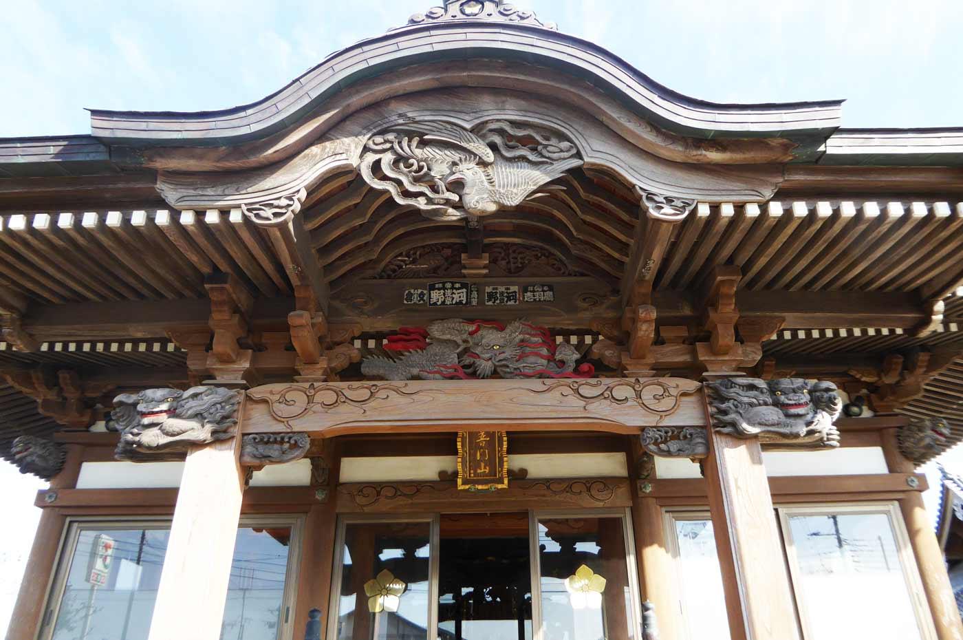 向拝の彫刻(龍・懸魚・木鼻)の画像