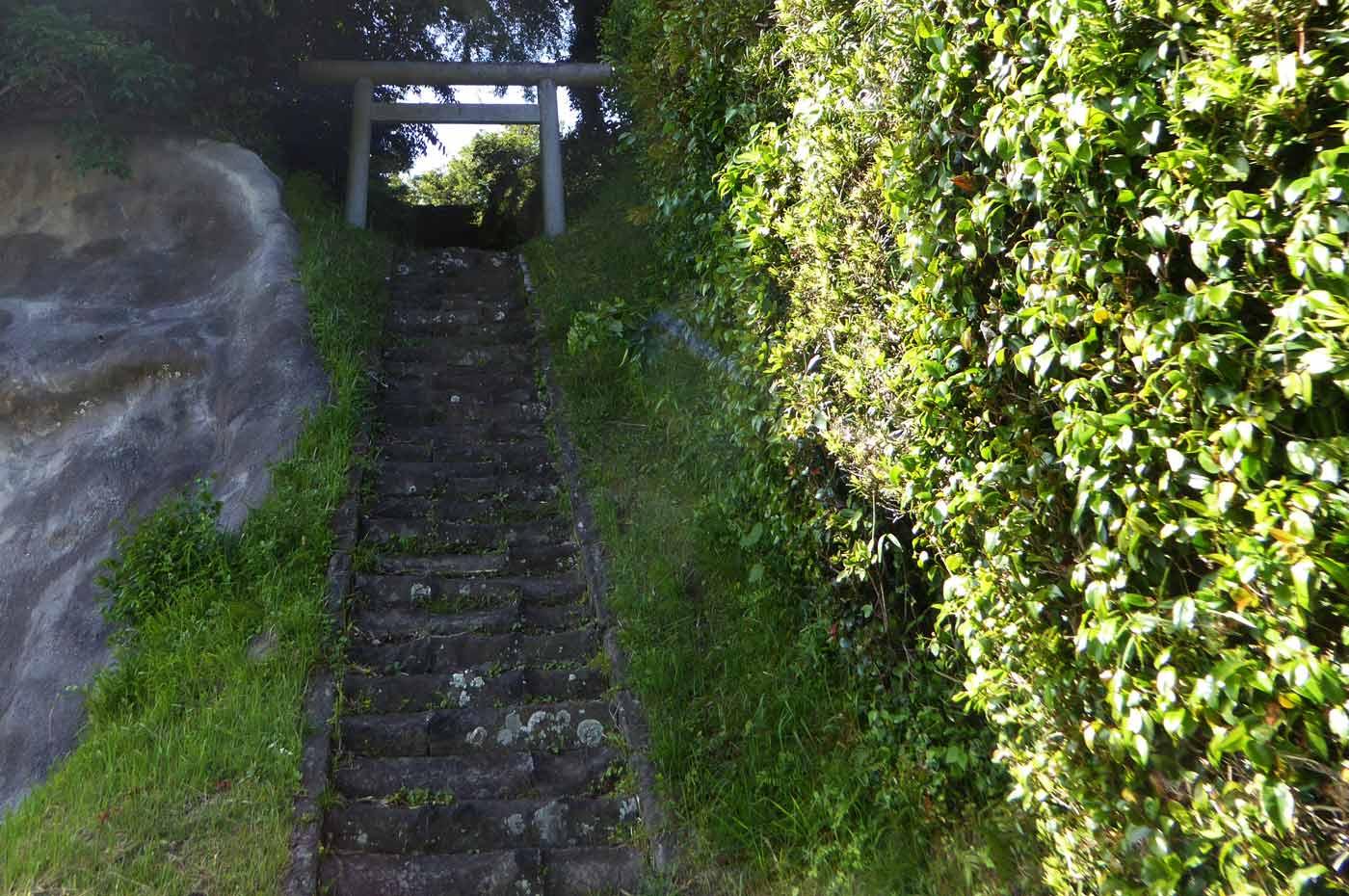 水岡神社拝殿への階段の画像