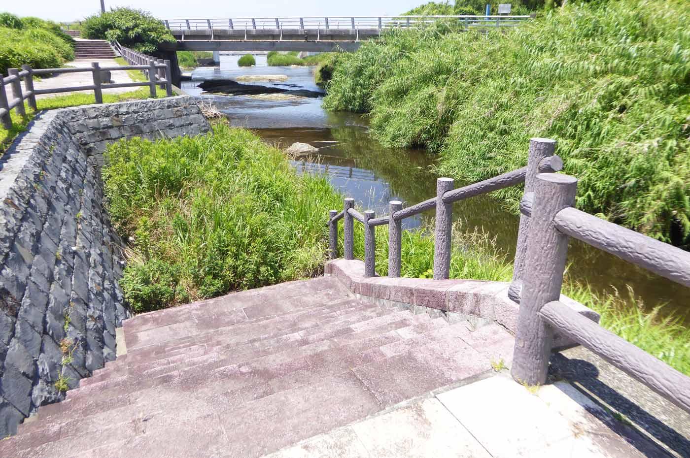 新橋下流の遊歩道の画像