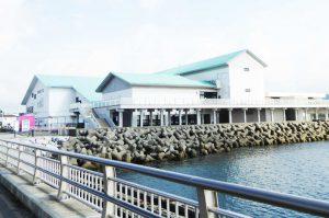 渚の駅たてやまを館山夕日桟橋から撮影
