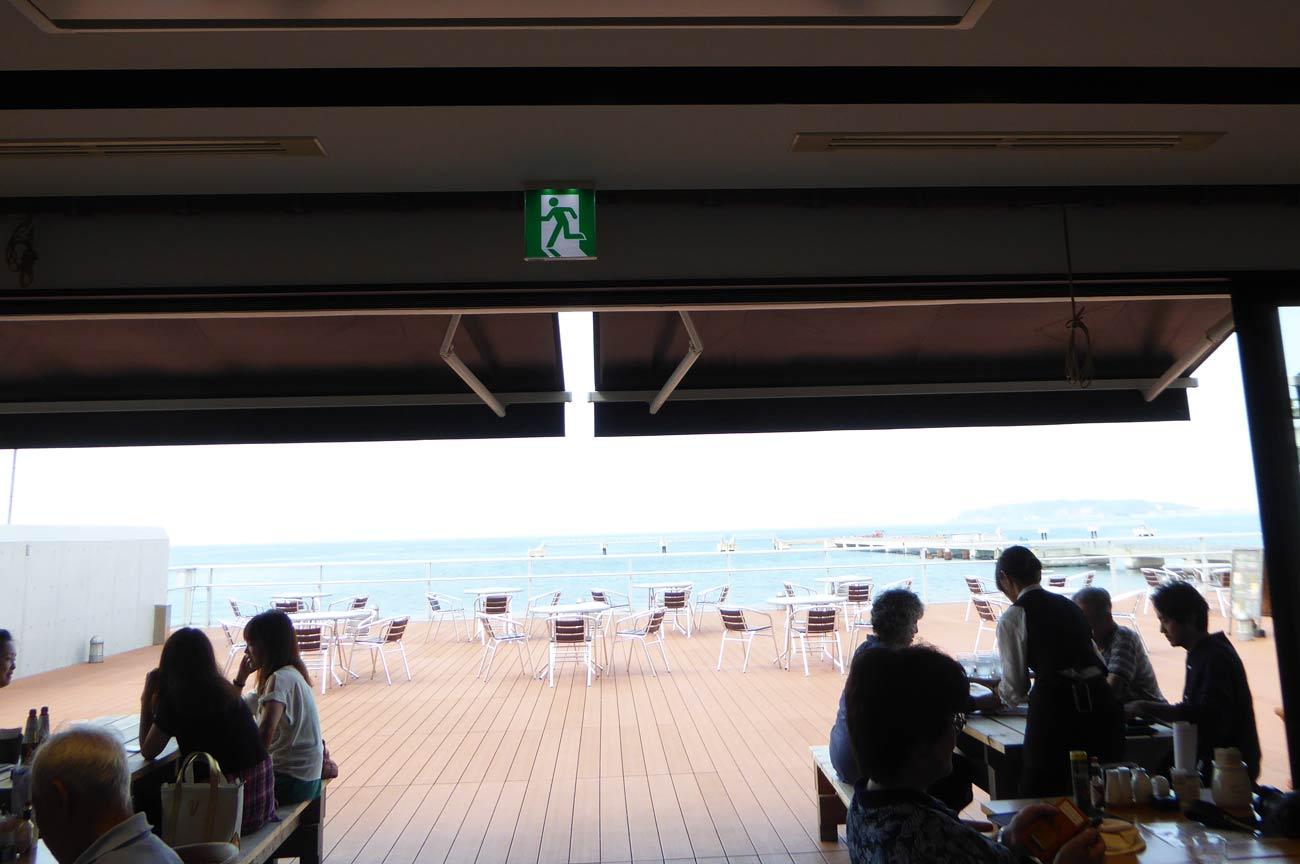 館山なぎさ食堂からの風景