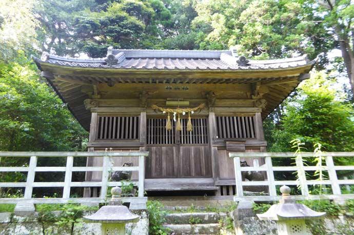 増間日枝神社の拝殿