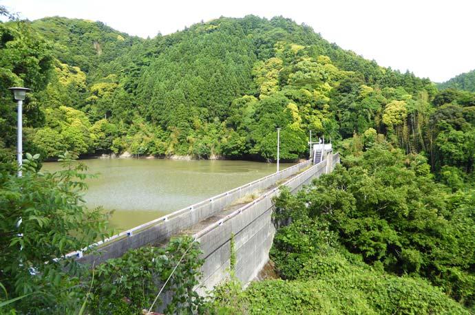 増間ダム堤頂部の画像