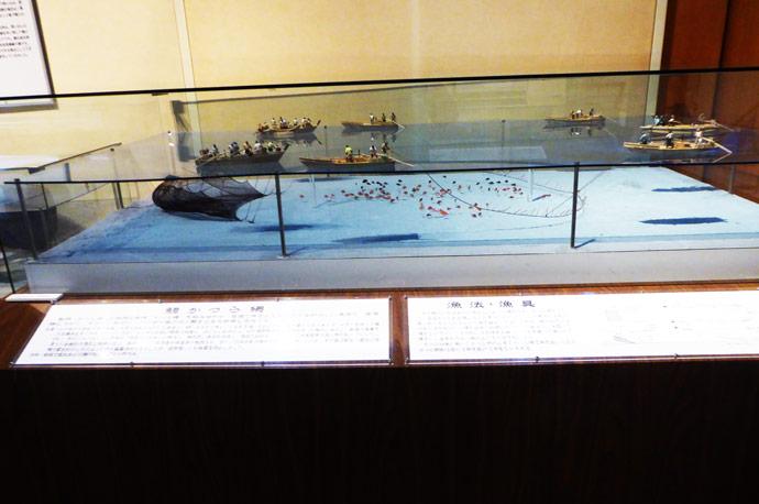 鯛かつら網の模型
