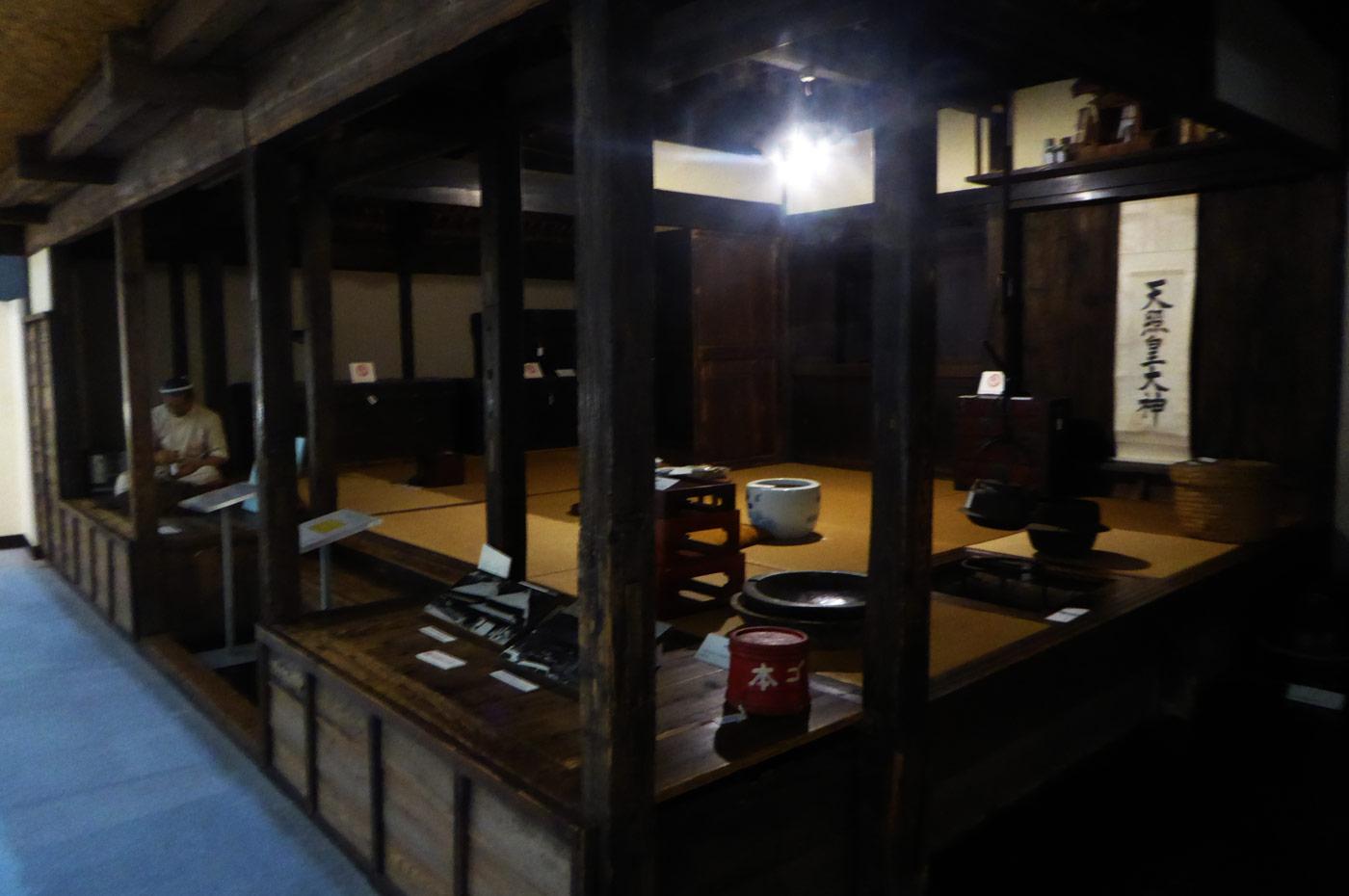 昔の漁師の家の模型