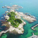 仁衛門島をドローンで空撮