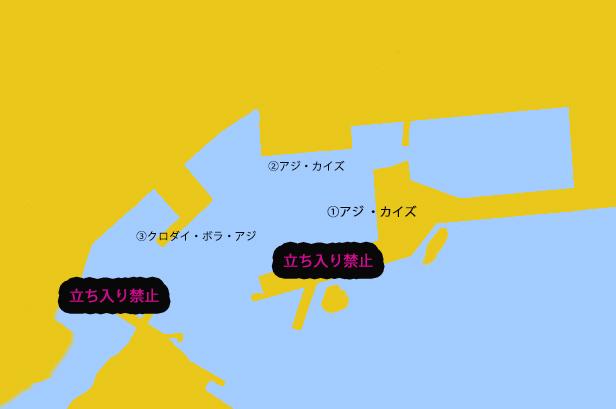 天津港のポイント図