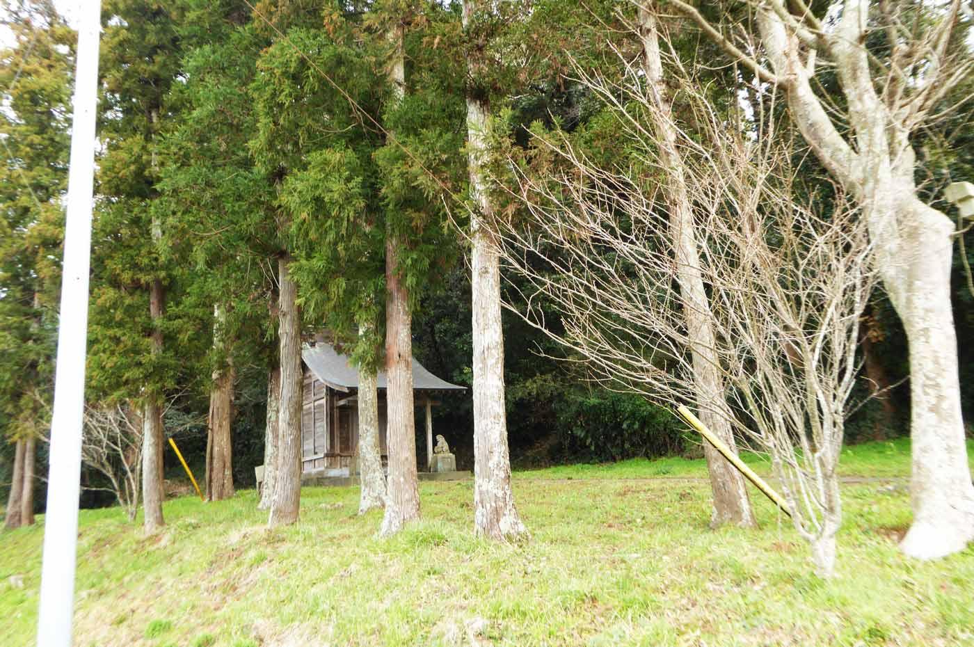 根方神社から三芳方面を撮影