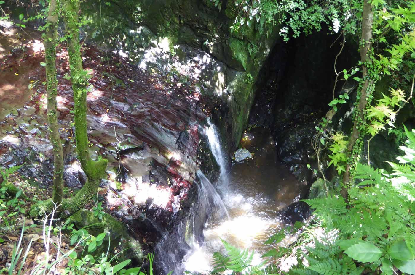 沢山不動滝の滝壺