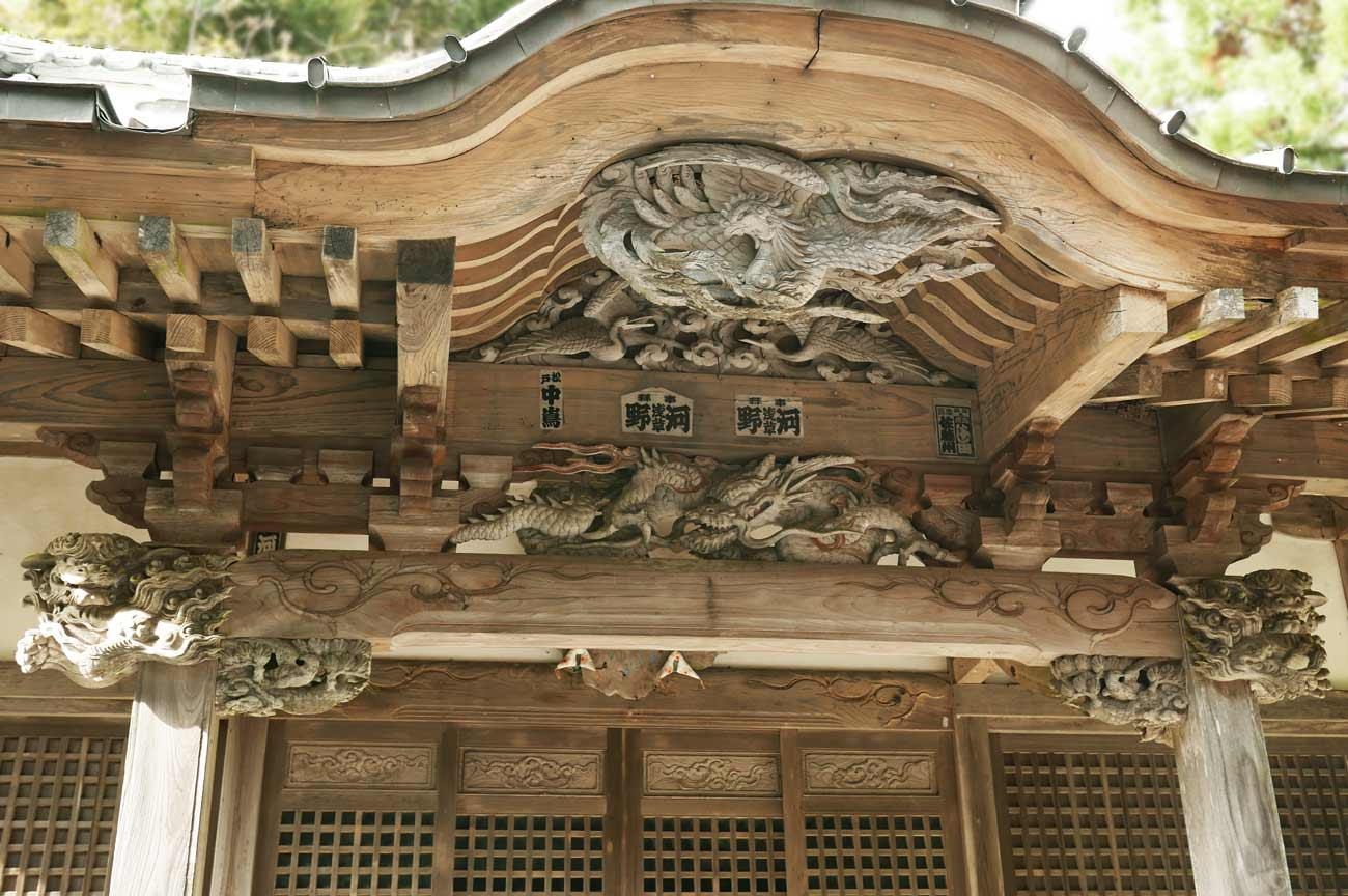 後藤義孝の龍と鳳凰の彫刻の画像