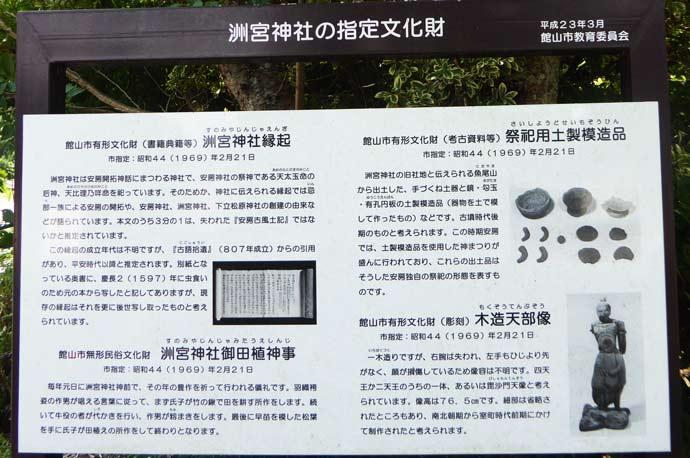洲宮神社文化財の案内板の画像