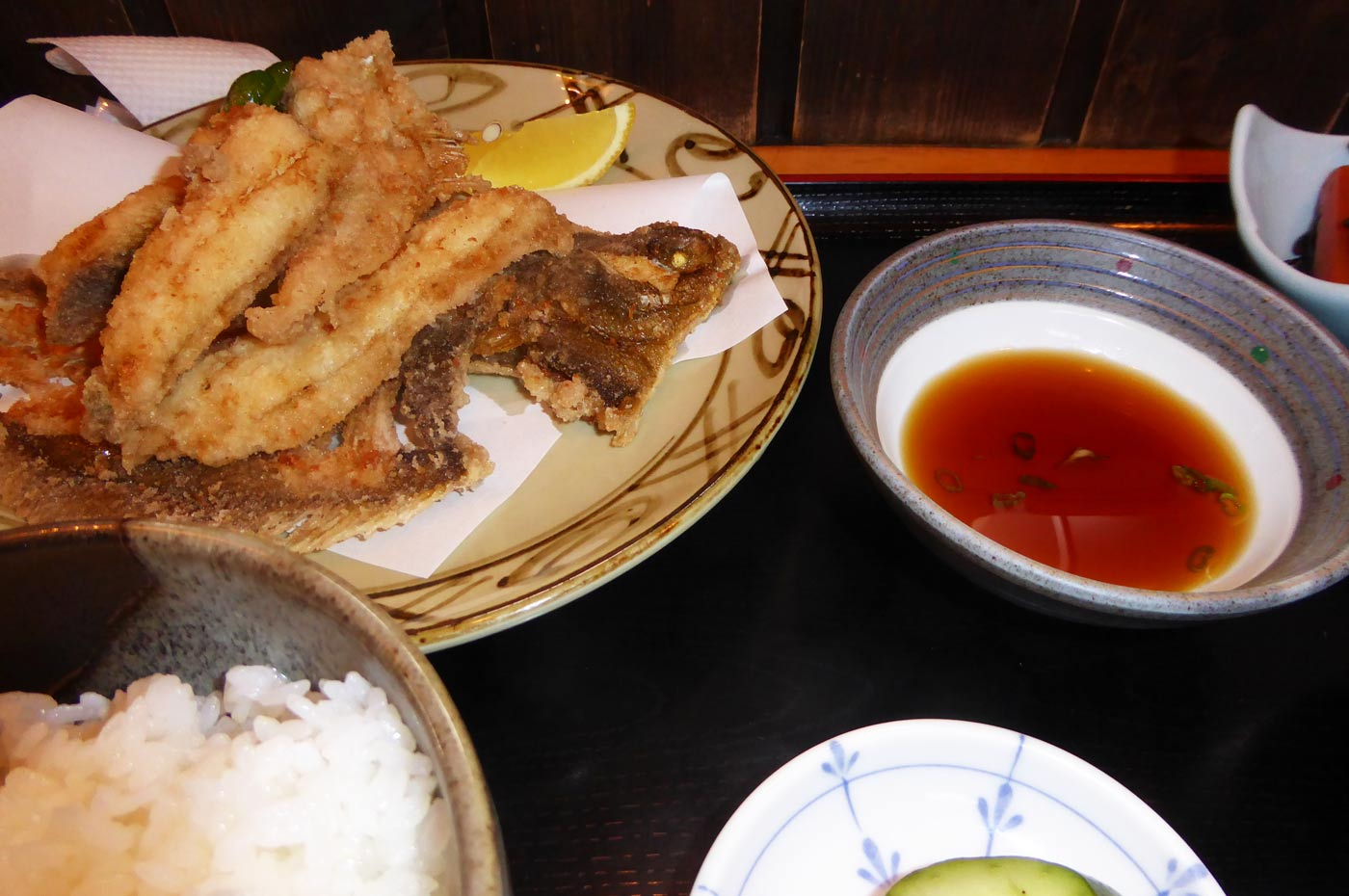 カレイ唐揚げ定食