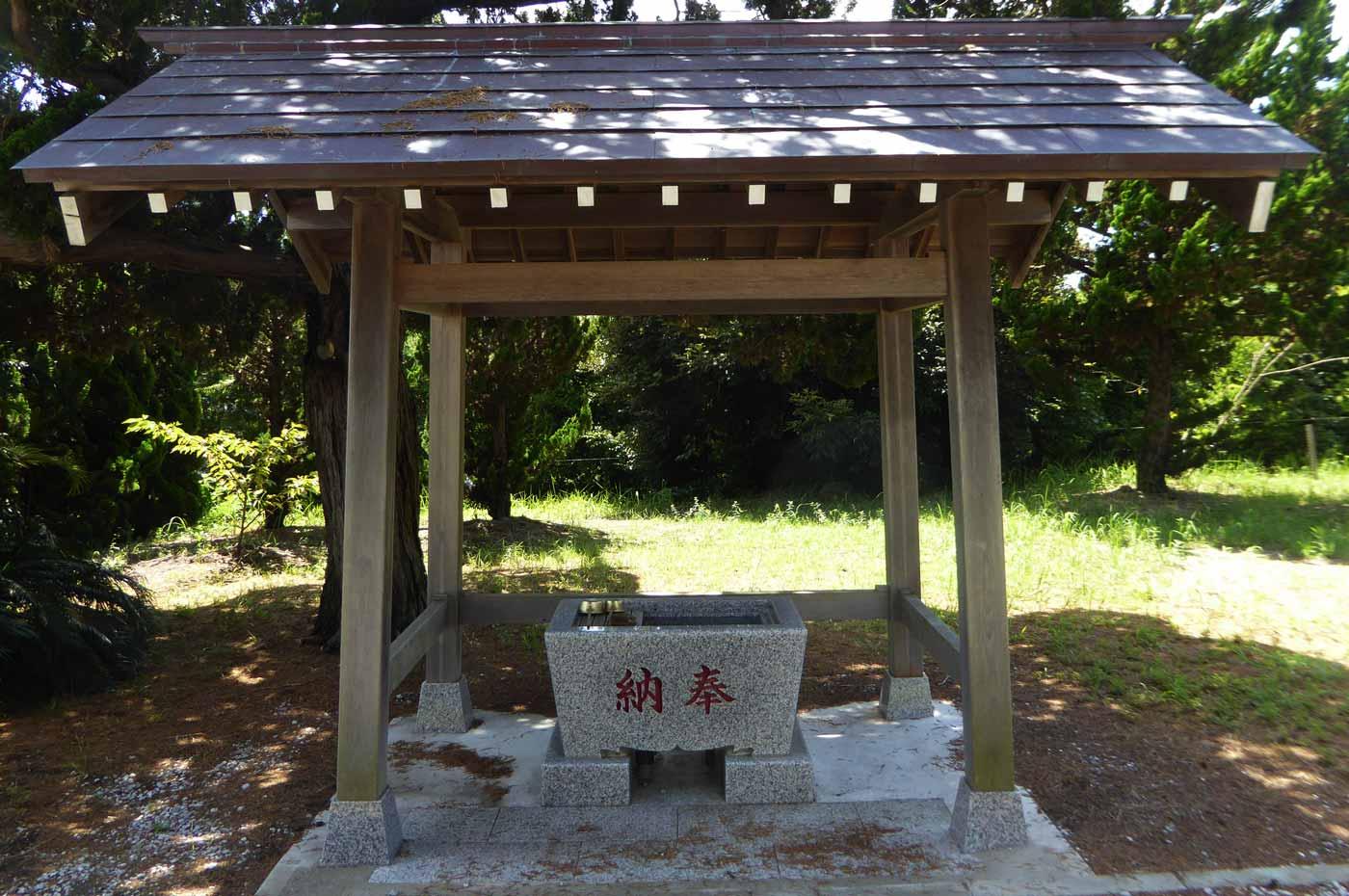 藤原神社手水舎の画像