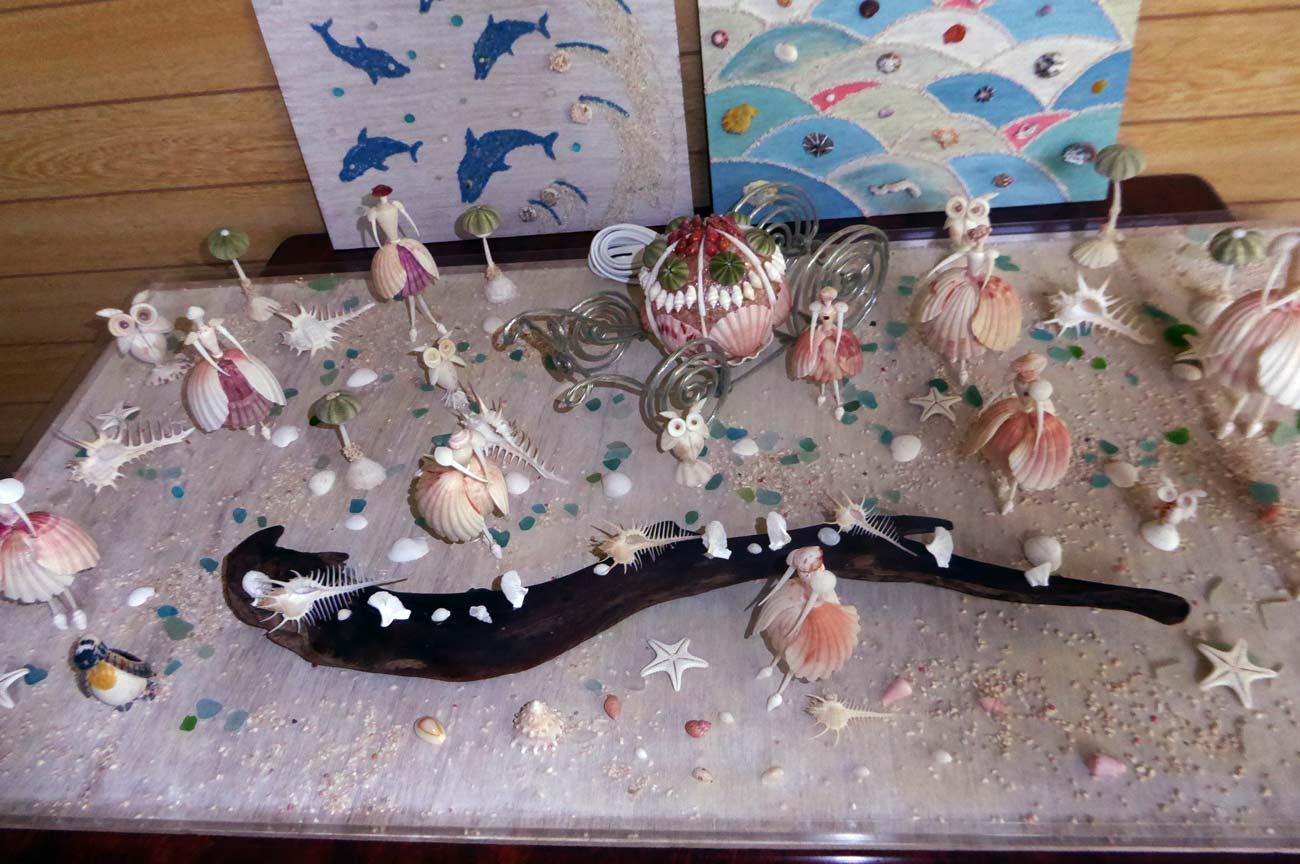 ホネガイの貝細工