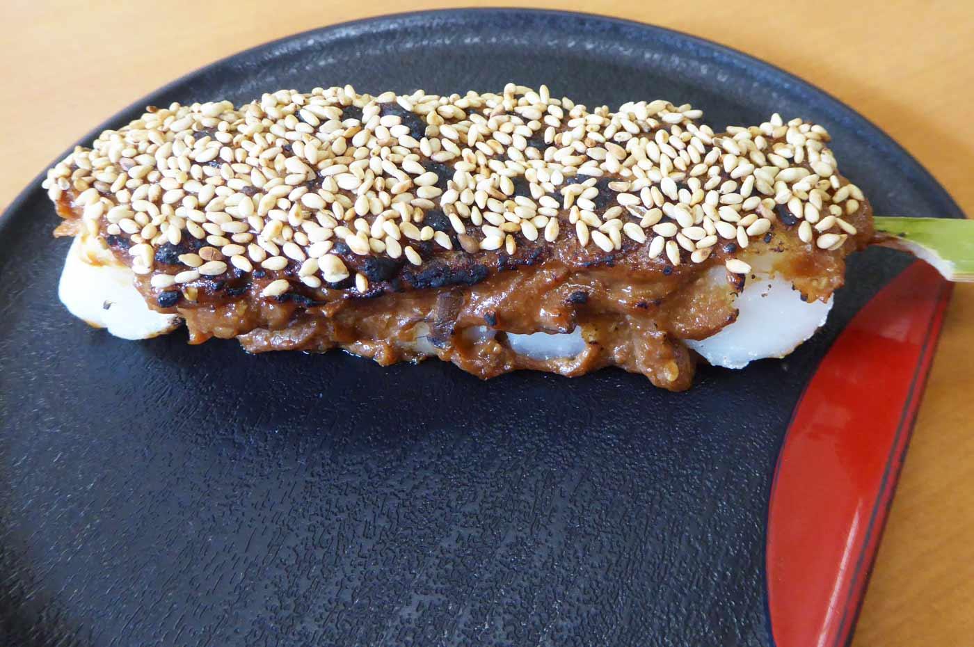 ねぎ味噌焼き団子の画像