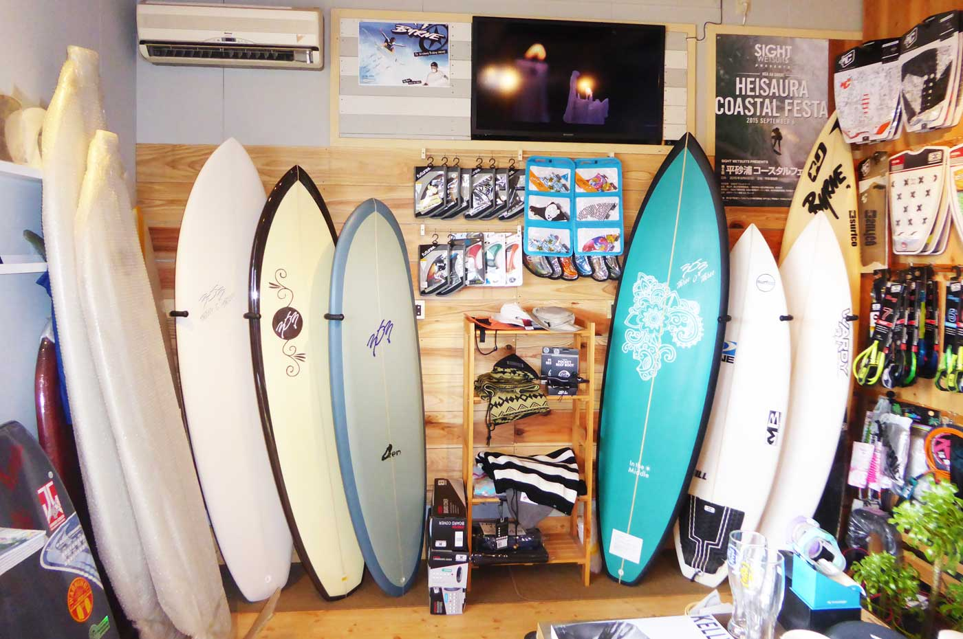 サーフボード売場の画像