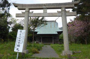 鶴ヶ浜八幡神社の鳥居と拝殿
