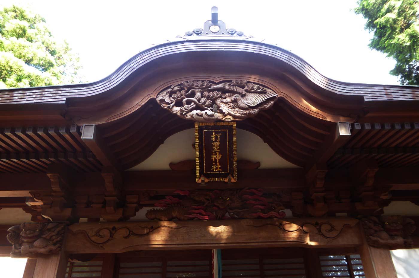 打墨神社向拝の彫刻