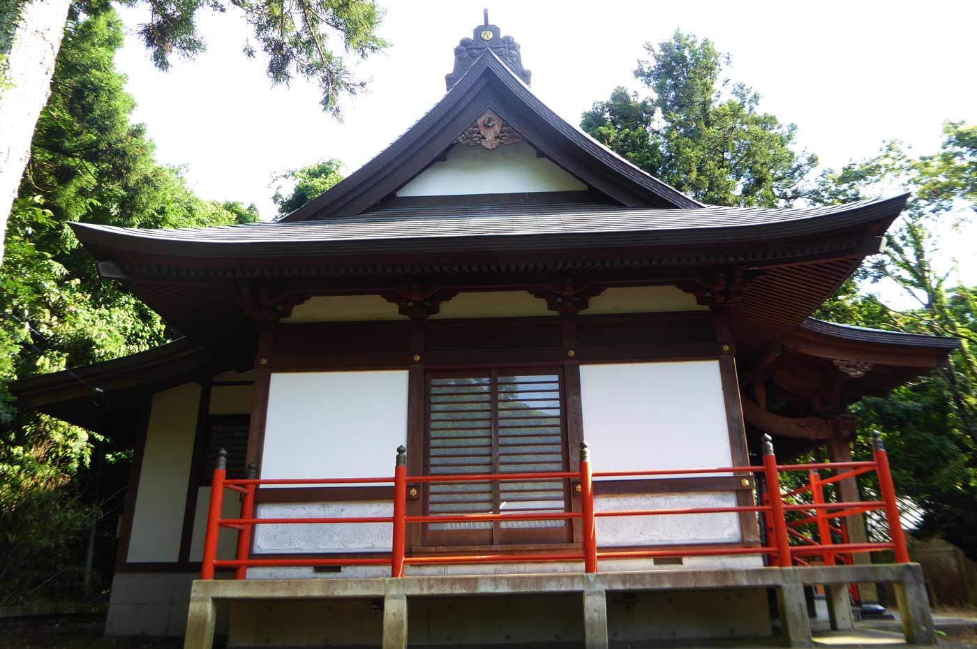 打墨神社拝殿と本殿の画像