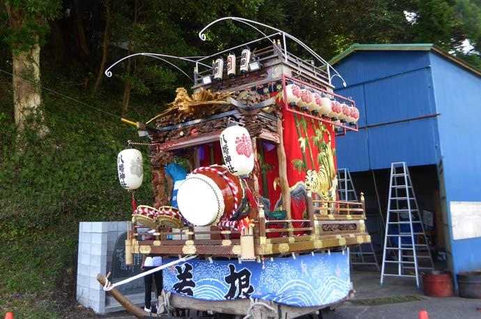 安馬谷八幡神社の山車の画像