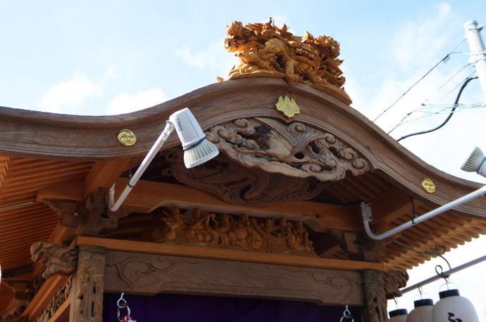 古川区の屋台の彫刻