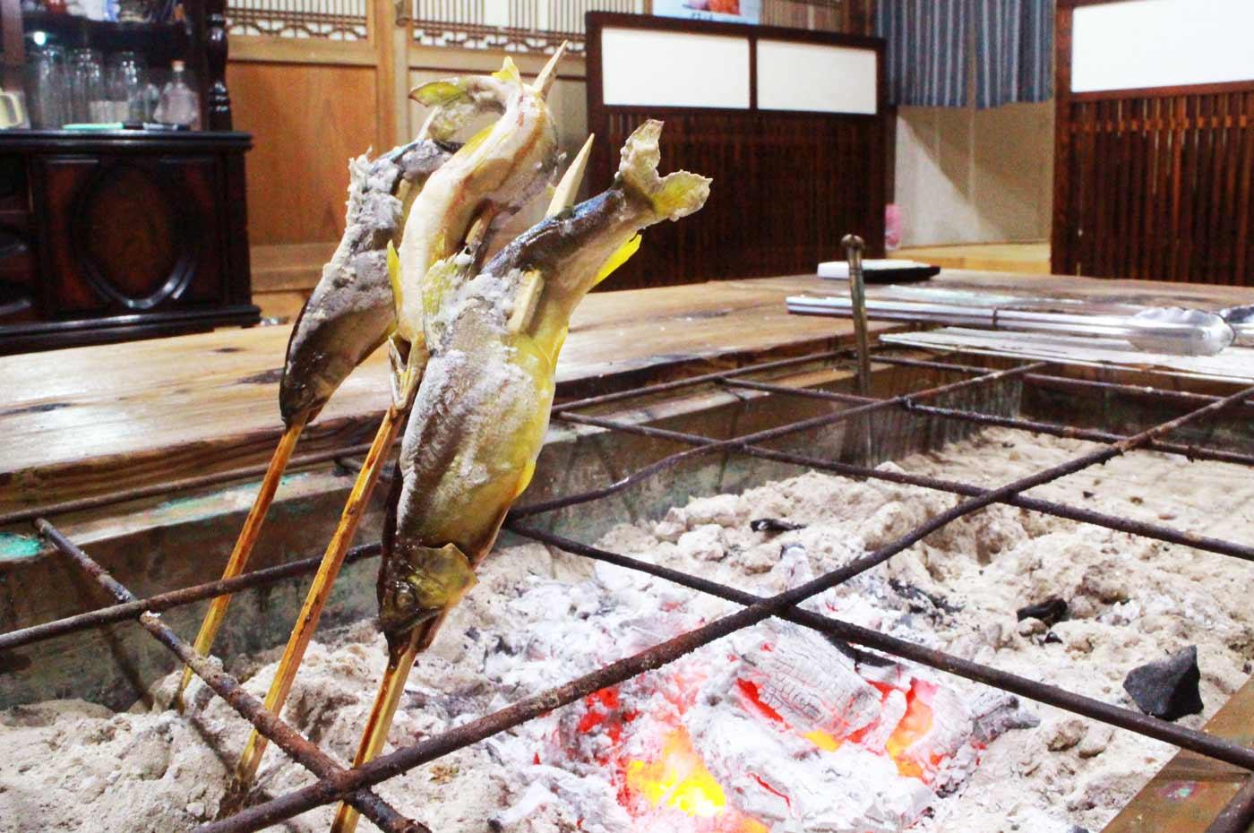 四万十川産アユの炭火焼き