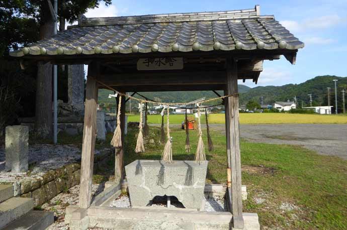 莫越山神社の手水舎