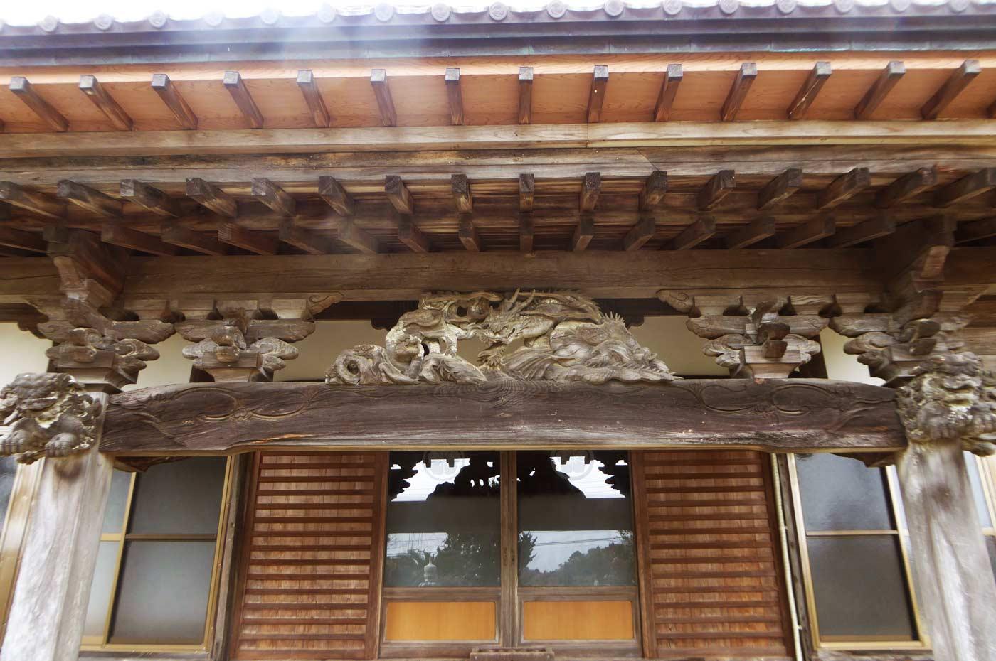 福性院本堂向拝の彫刻
