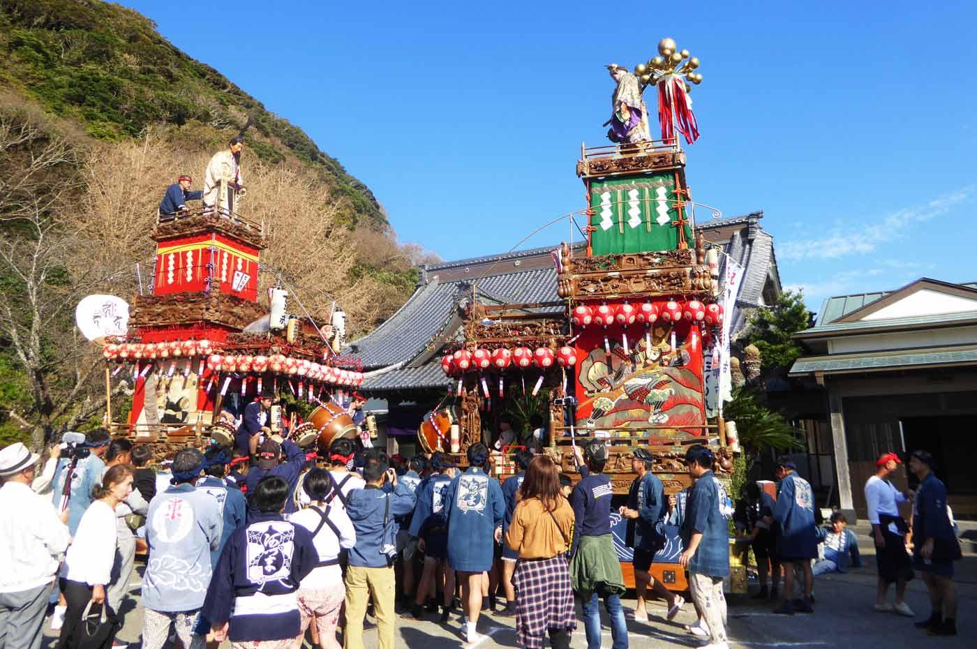 那古寺千三百年祭の様子