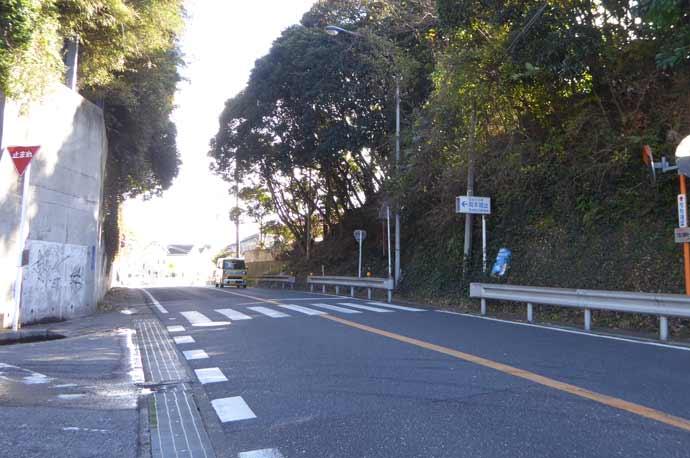 国道127号岡本城址の入口の画像