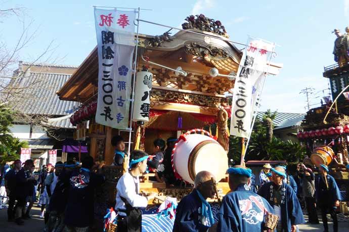 那古寺1300年祭に出祭する八雲神社の屋台