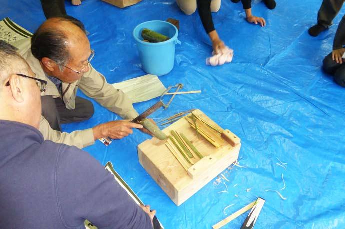 真竹を割る画像2