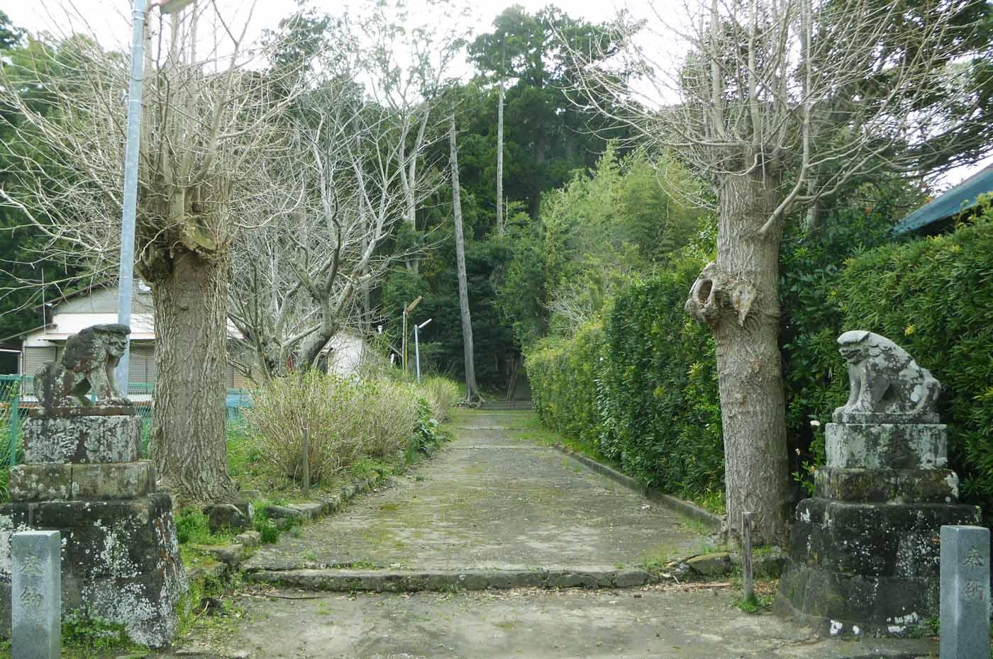 下立松原神社参道の画像