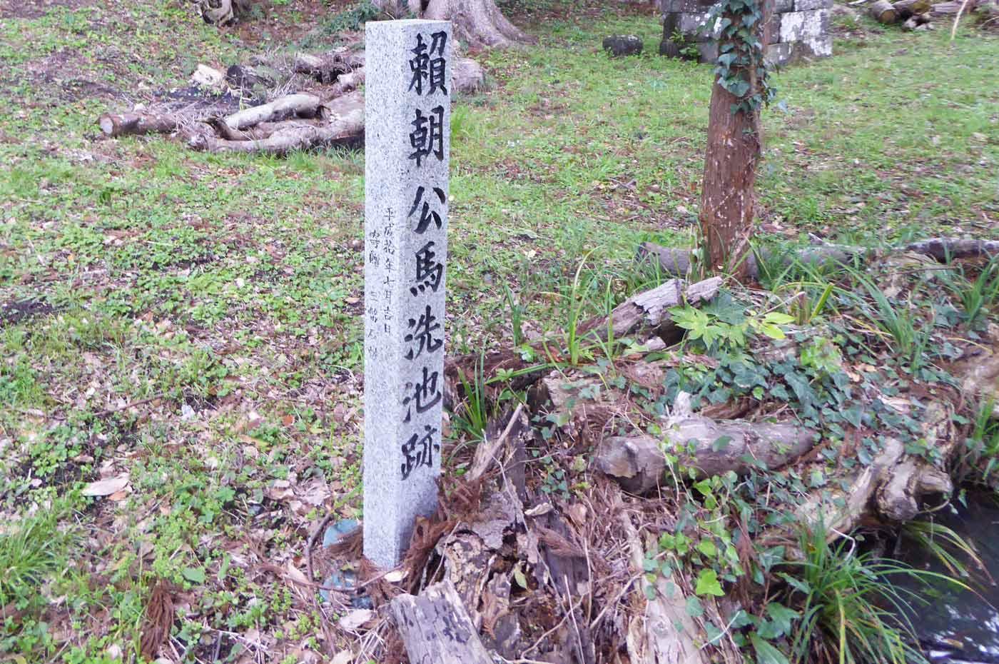 下立松原神境内の頼朝公馬洗池跡の画像