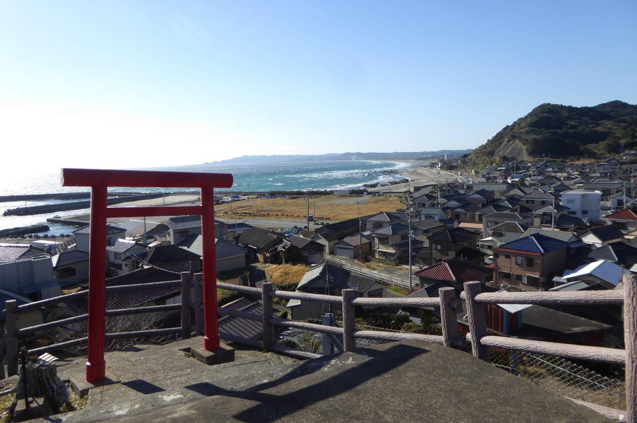 千倉方面の海の画像