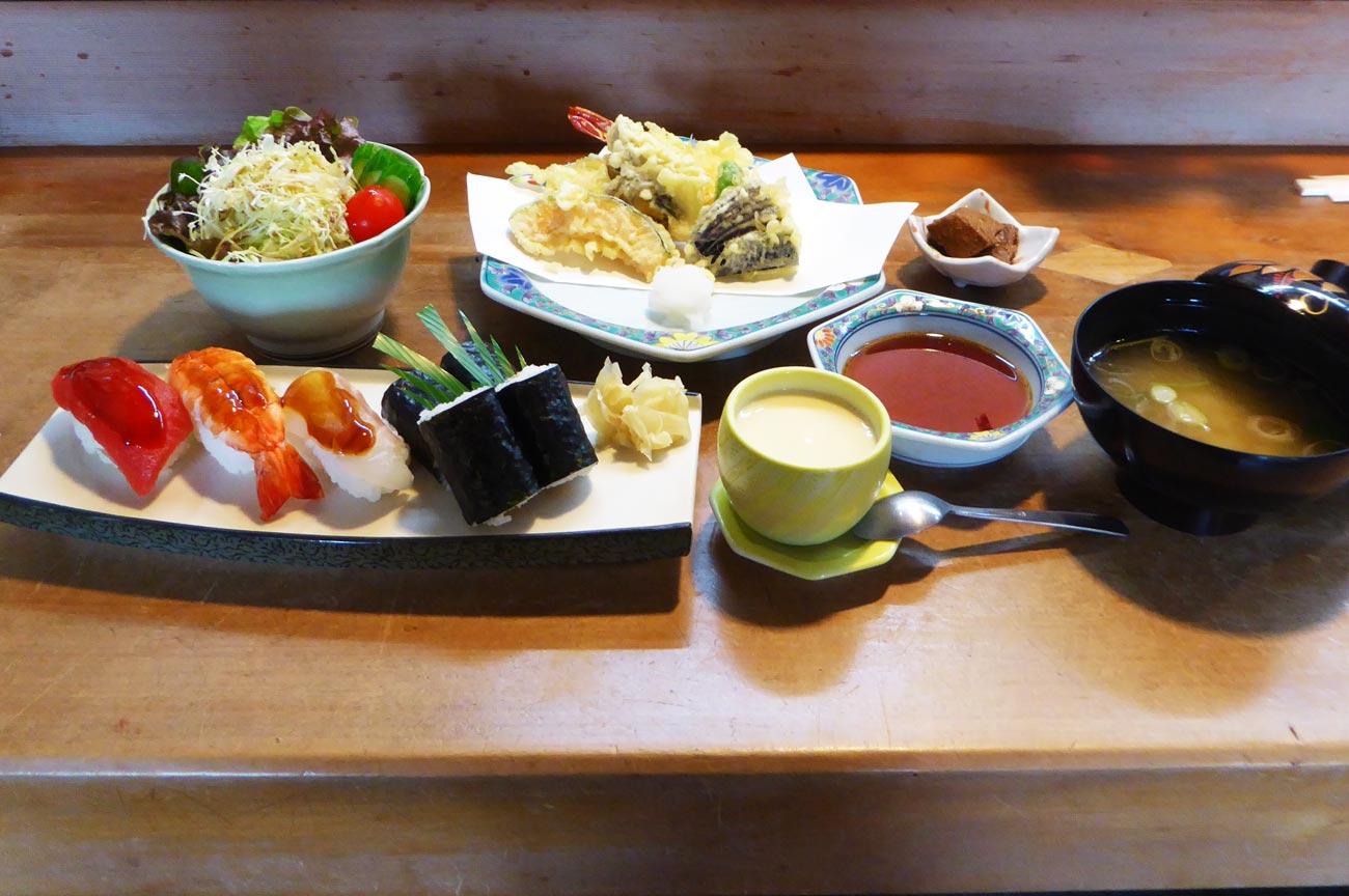 なか川の天ぷら御膳の画像