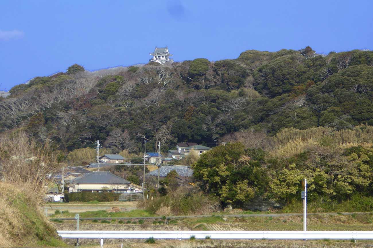 十二天神社から館山城を望む画像