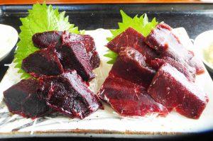 魚の鯨二点盛り定食の画像